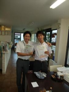 2人で参加してくれました、夏まつりにも来てくれたタカキの荻野さん、と太田さん!