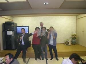 クリーンアイランド金田さん、中村防水中村さん、ツタエルイサタケさん! 2次会への、カンパサンキューです!
