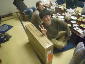 1等、32型テレビ! 田中建具山崎さん、おめでと! あんまり覚えてません・・・・とご本人。