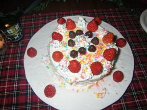 ケーキも手作り~ 完食~