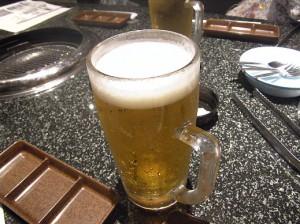 生ビール、大。 でかっ!