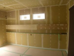 寝室のふかし壁~仕上がり楽しみ~