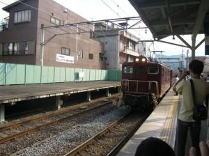 電気機関車、SLではなくELだそうです。