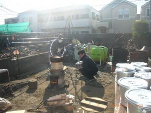 当番、のお二人。 社長経理部長の友人の、山崎さんご主人と、小河塗装の小河社長。